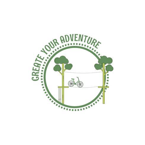Selo de parque de corda de aventura