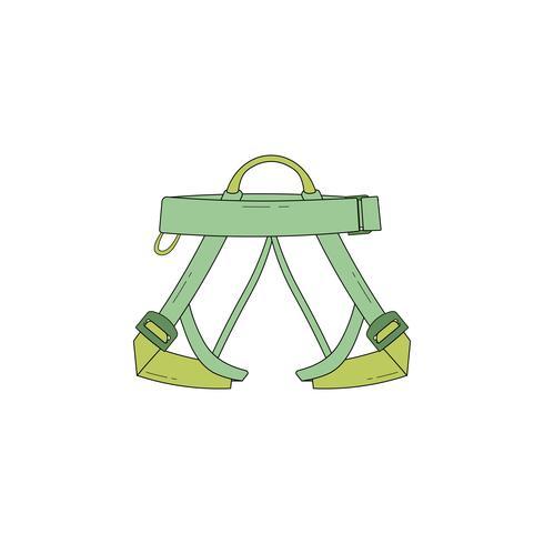 Ícone de arreios de escalada vetor