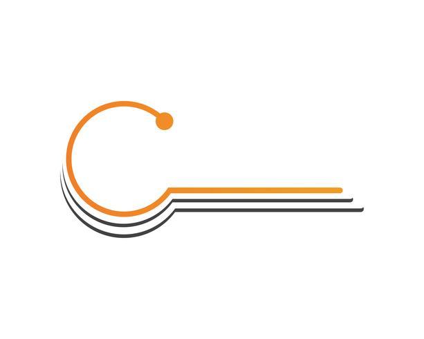 C logo de cercle et vecteur de symboles