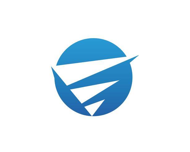 Finansiell logotyp vektor mall verksamhet
