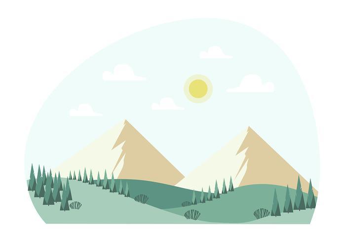 Vektor landskaps illustration