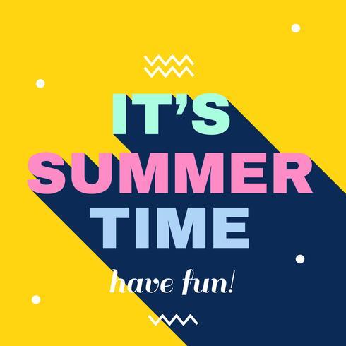 Es vector de horario de verano