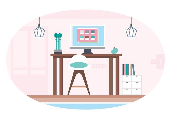 Vektor-Designer-Raum-Illustration