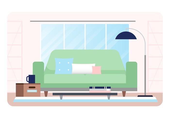 Ilustración de vector diseñador habitación