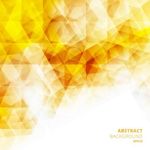 Motif géométrique jaune abstrait faible polygone. Modèles de conception créative.