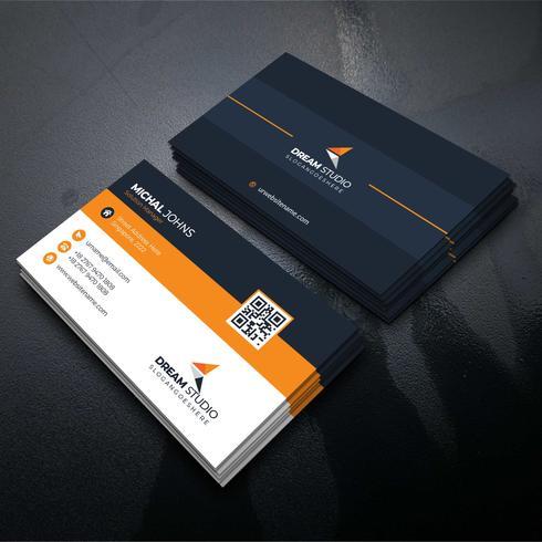 Orange Formbesuchskarte freie Vektor