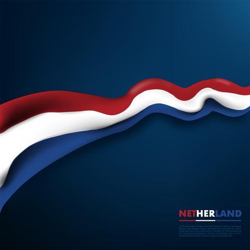 Realistisk Netherland Flag Vector Design