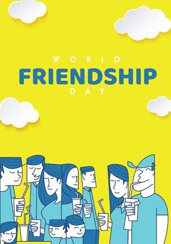 wereld dag van de vriendschap poster vector