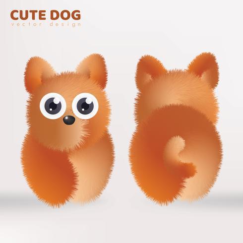 Projeto de vetor de boneca de cachorro fofo