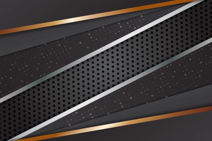 Geometrisk svart färg abstrakt bakgrund modern design med kopia utrymme, Vektor illustration för ditt företag och webb banner design.