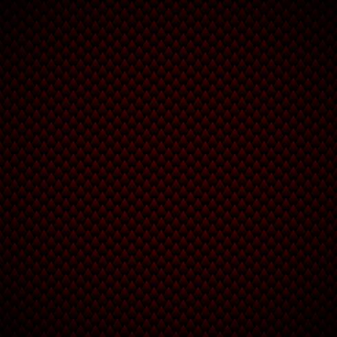Los triángulos geométricos del estilo de lujo abstracto modelan el fondo y la textura negros y rojos. Escamas de dragon. vector