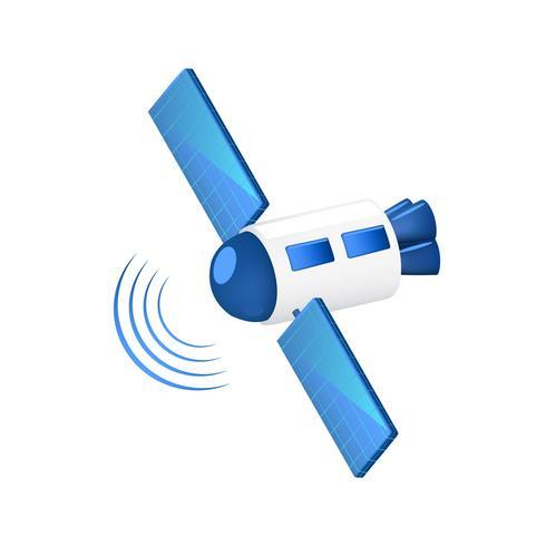 Communication Satellite sending signals