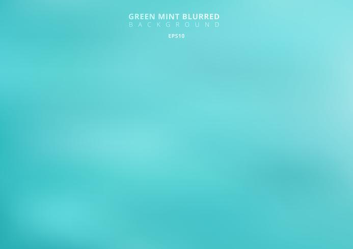 Turquesa verde abstrata fundo borrado. Cenário de cor de hortelã pode usar para design gráfico, banner web, cartaz, folheto, folheto, anúncio, impressão, etc.