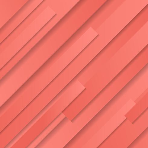 Fondo e struttura obliqui geometrici a strisce di colore rosa di corallo astratto.