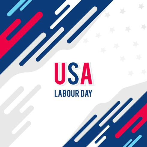 Illustration of Labor Day With Background Using Abstract Patterns
