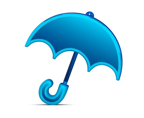 Icono de paraguas brillante para sitios o aplicaciones meteorológicas vector
