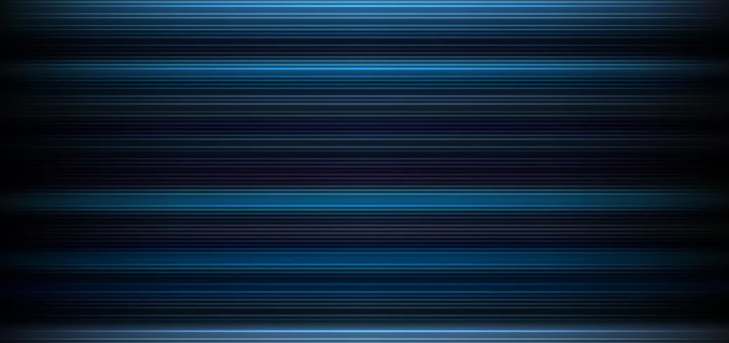 Abstract Dark Blue Background With Horizontal Light And