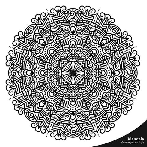 Mandala Contemporary Style Decorative Elements