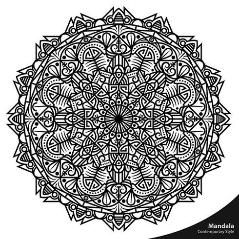 Dekorative Elemente der Mandala-zeitgenössischen Art vektor