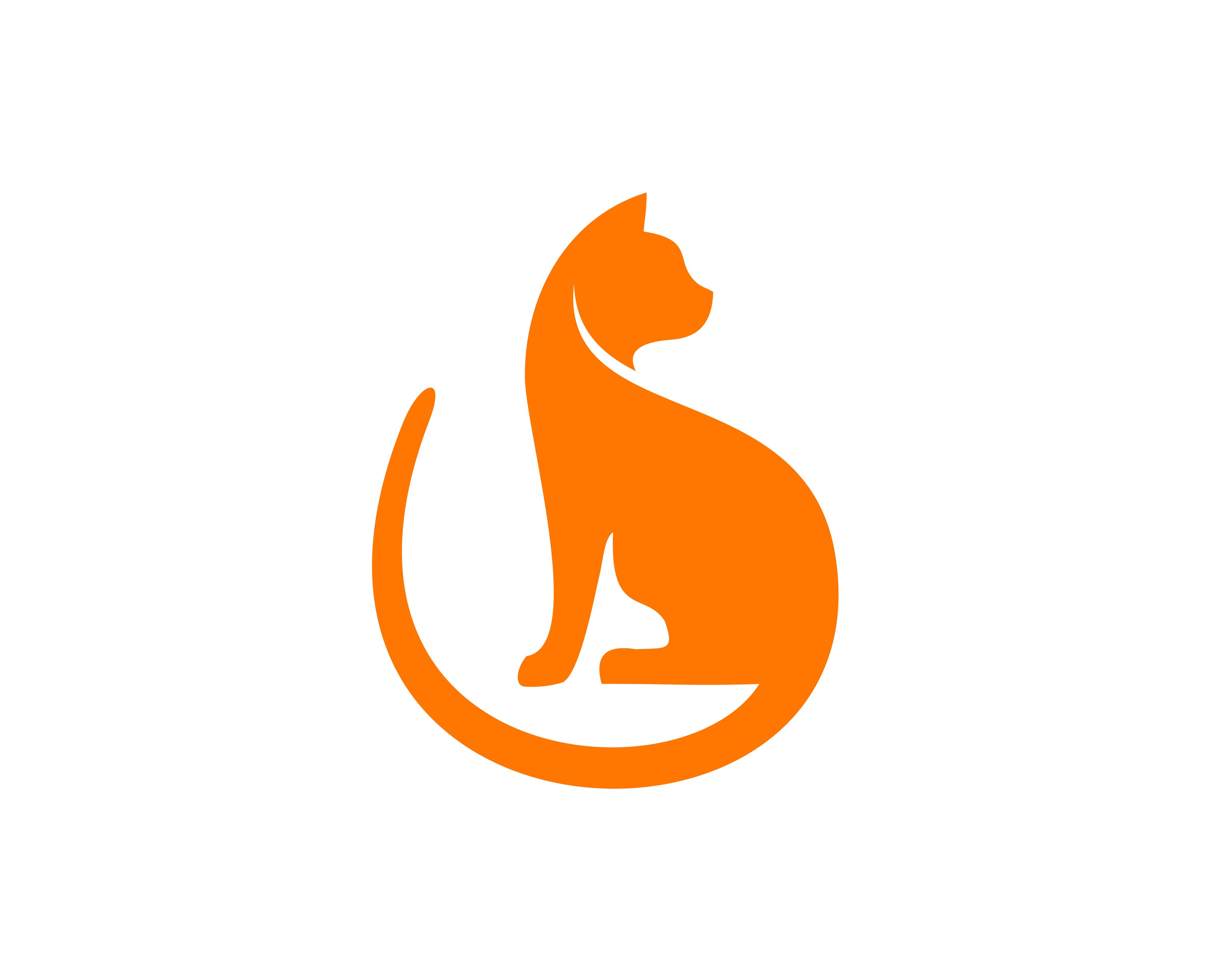 Cat Flat Logo Download Free Vectors Clipart Graphics Vector Art