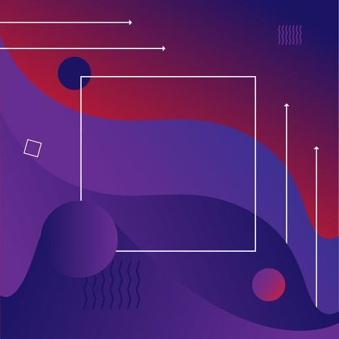 Fondo de estilo moderno degradado abstracto vibrante de Memphis vector