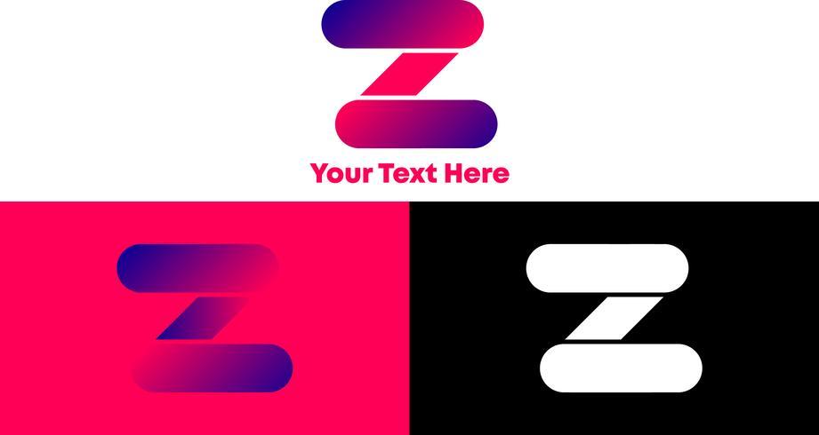 Concept de logo Z dégradé et moderne