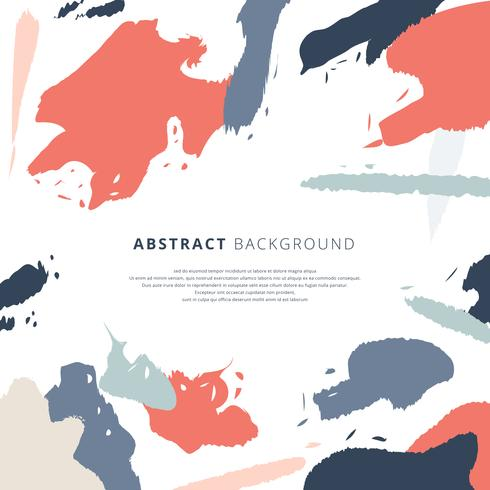 Abstract shapes art brush splash pattern pastels color on white background.