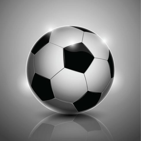 Fotboll isolerad på bakgrunden