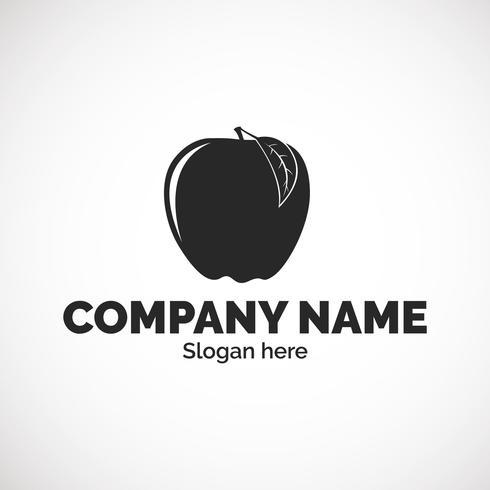 Plantilla de logotipo de Apple vector