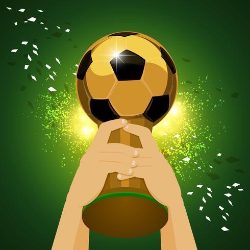 campeón mundial de futbol vector