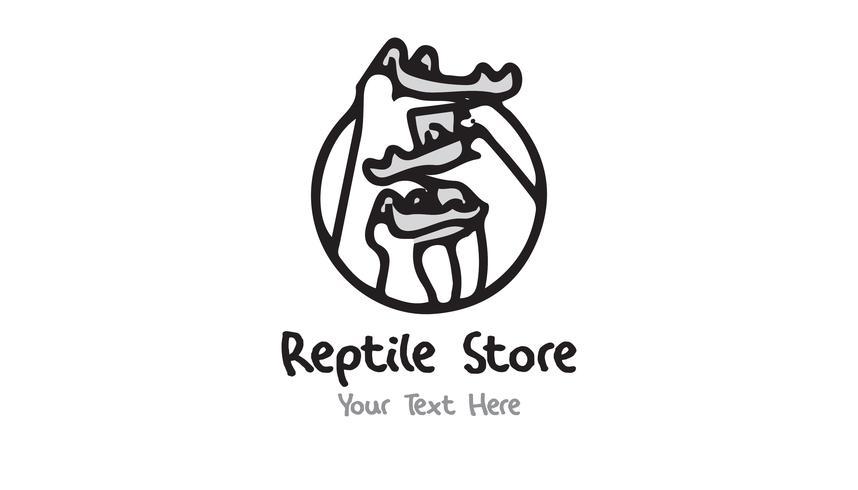 Reptile Store Logo-konceptet minimalistisk