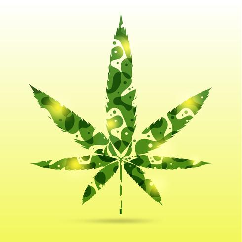 abstract cannabis leaves vector