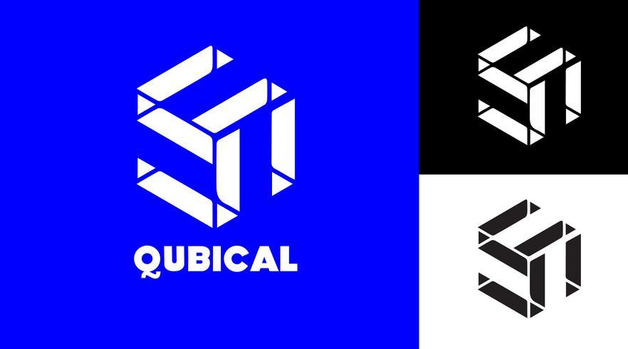 Cubic Modern Logo Concept voor opstarten