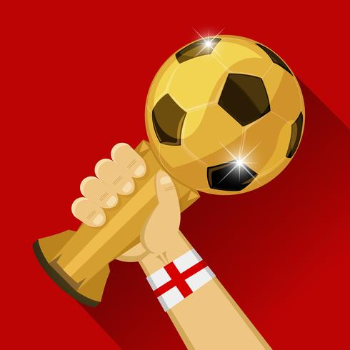 Soccer trophy for England