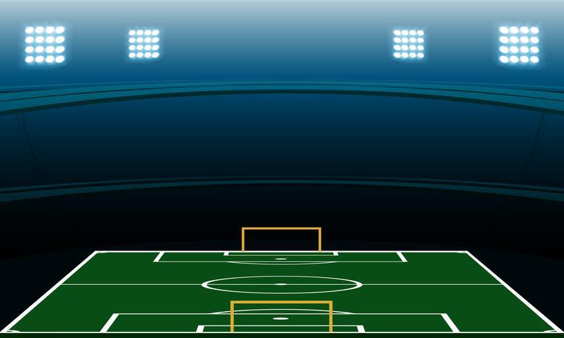 estadio de futbol nocturno vector