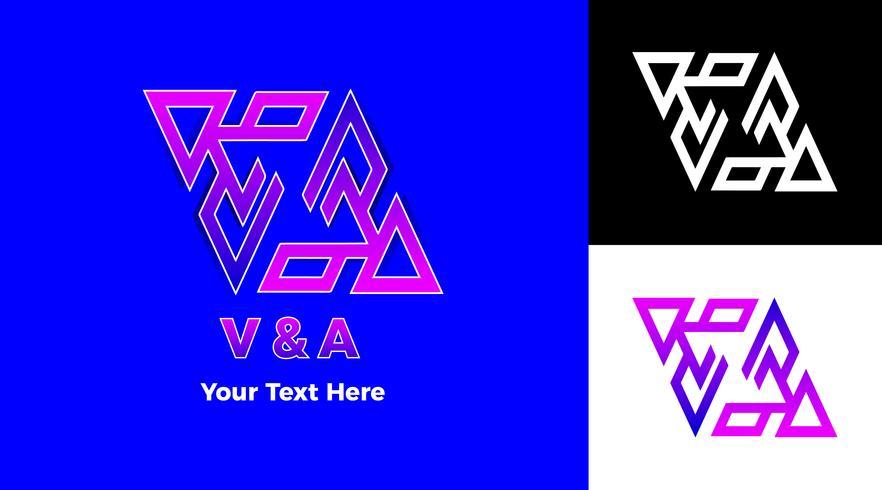 modernt gradient triangel symbol logotyp koncept