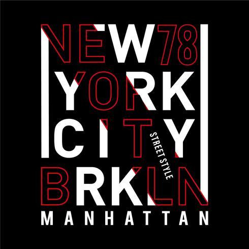 Straßenart New- York Citytypographieentwurf