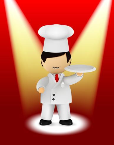 Italienischer Koch hält Teller