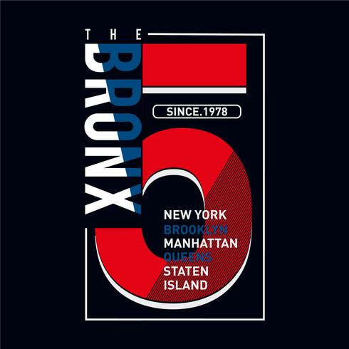 The Bronx typography graphic t shirt design