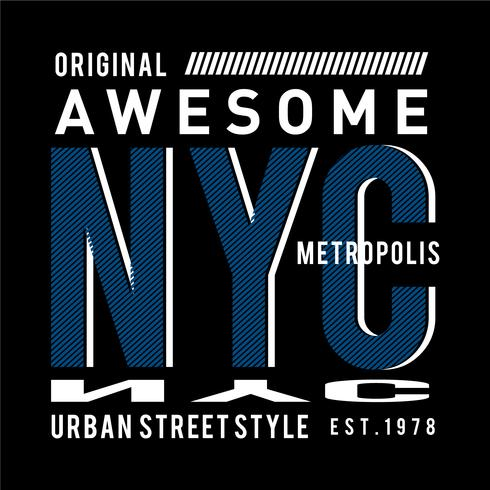 Typografieentwurfs-New- York Cityt-shirt Grafik