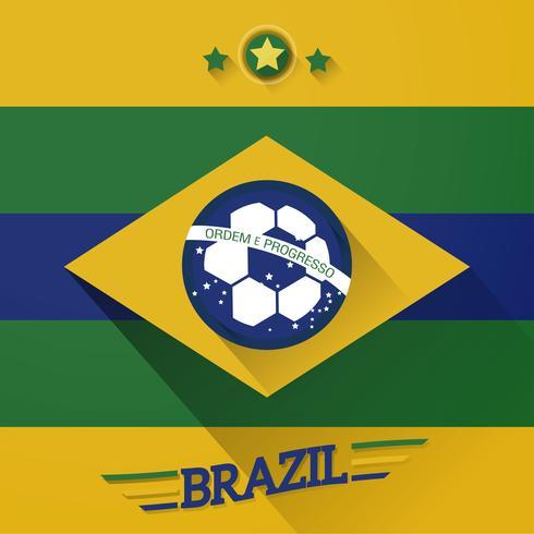 segno di bandiere di calcio brasile