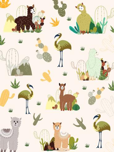 Llama and Cactus Clipart Bundle,No Drama Llamas Graphics Set.