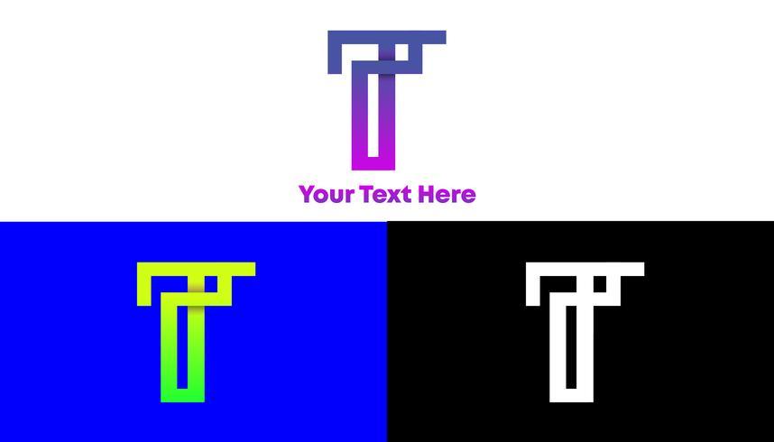 T Gradient Monogram Logo Design