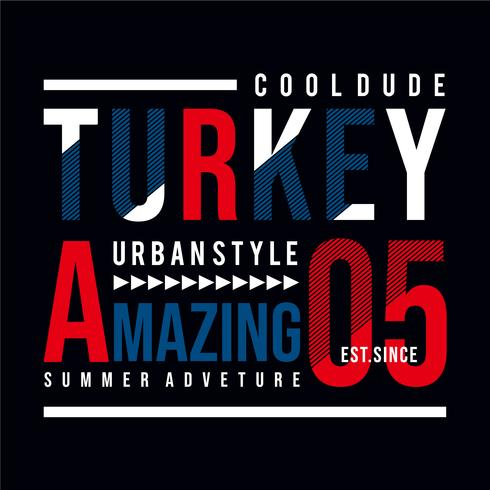 Vektor illustration på temat TURKIET. Typografi, t-shirt grafik