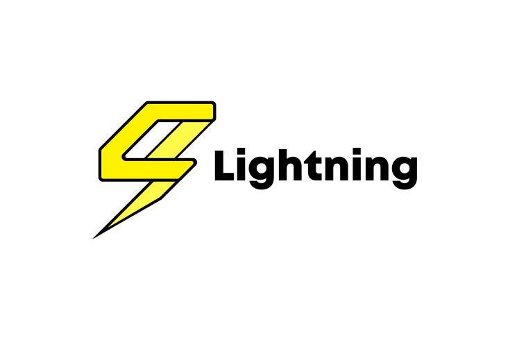 Ligtning Logo Design Template Minimalist