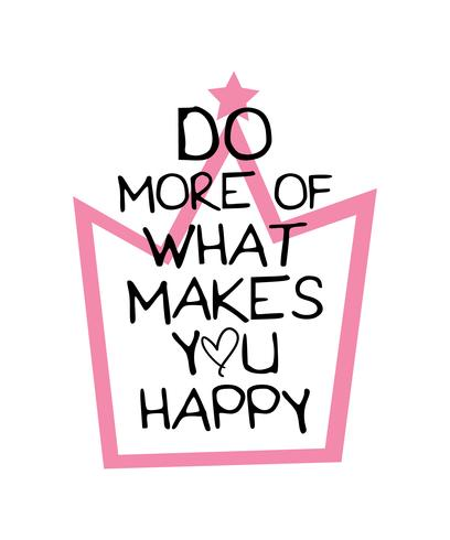 Inspirational quote do more of what makes you happy vector