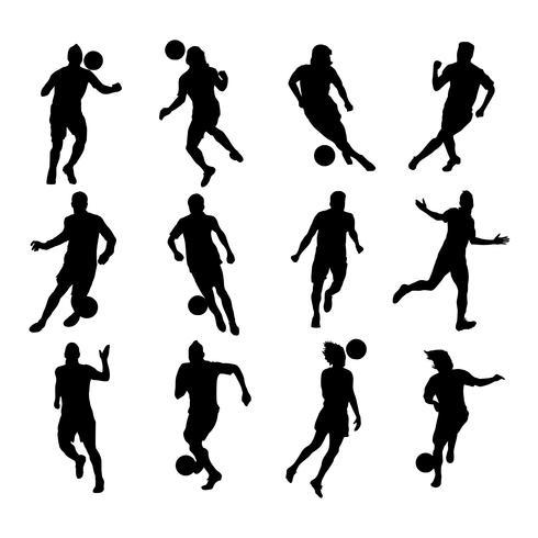 Silhouetten Fußballspieler vektor