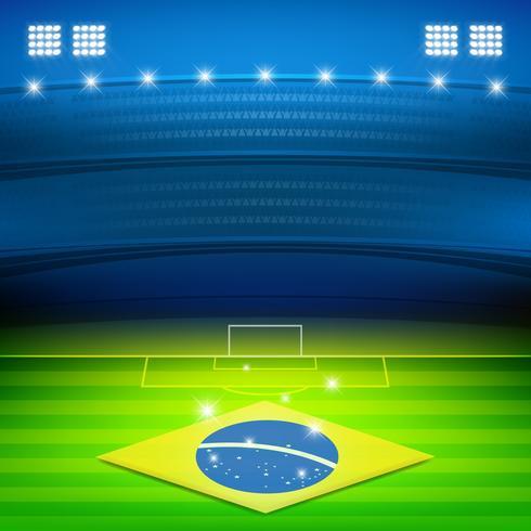 Fondo de estadio de fútbol de Brasil vector