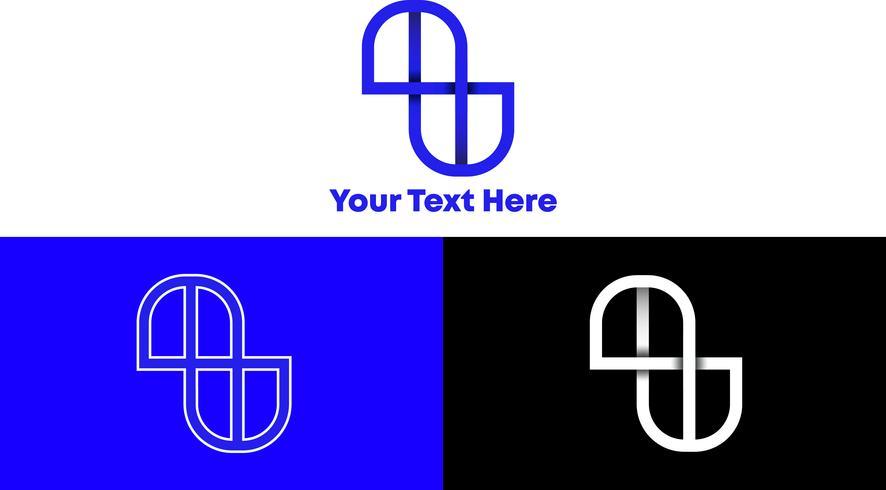 Concepto simple y moderno del logotipo del monograma