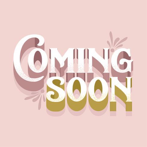 Coming Soon Typography Vector Design